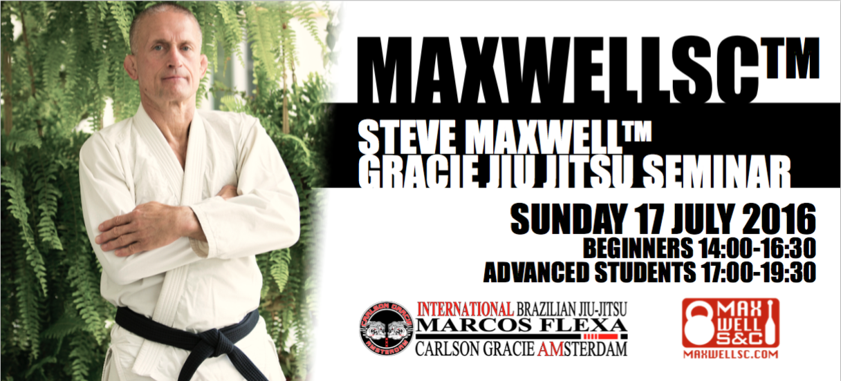 Steve Maxwell seminar on the 17th of July. Reserve the date. Members Only.
