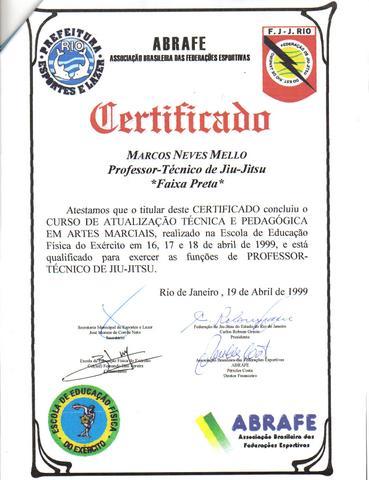 certificado da federacao